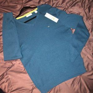 Blue Calvin Klein Long Sleeve Sweater